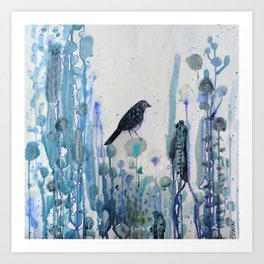 l'heure bleue Art Print
