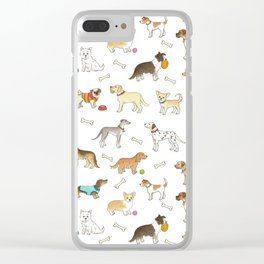 Breeds of Dog Clear iPhone Case