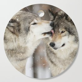 Wolf Kisses Cutting Board