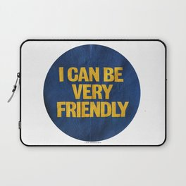 I can be Very Friendly Vintage print  Laptop Sleeve