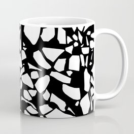 Terrazzo White on Black Coffee Mug