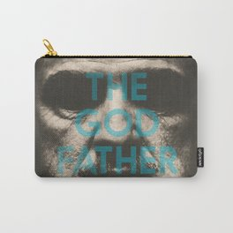The Godfather, minimalist movie poster, Marlon Brando, Al Pacino, Francis Ford Coppola gangster film Carry-All Pouch
