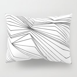 Zig Zag Lines Black Pillow Sham