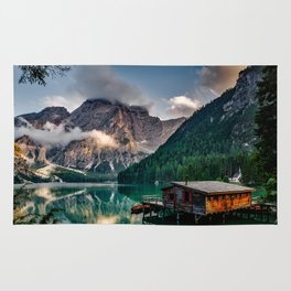Italy mountains lake Rug