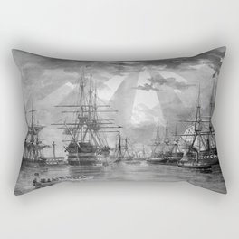 Civil War Ships of the United States Navy Rectangular Pillow