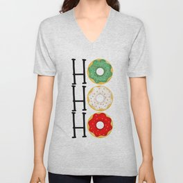 Ho Ho Ho - Holiday Donuts Unisex V-Neck
