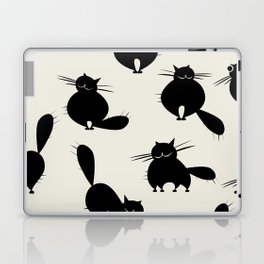 Funny big cats, seamless pattern for your design Laptop & iPad Skin