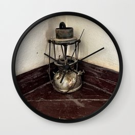 Old Oil Lamp Wall Clock