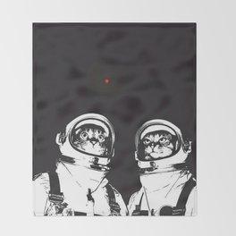 astronaut cats Throw Blanket