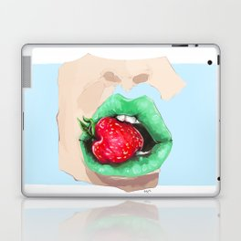 Strawberry lips Laptop & iPad Skin