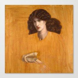 Dante Gabriel Rossetti, The Lady of Pity, 1881 Canvas Print