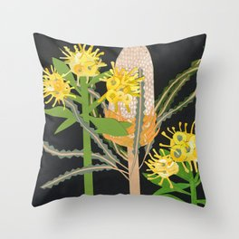 Acorn Banksia Throw Pillow