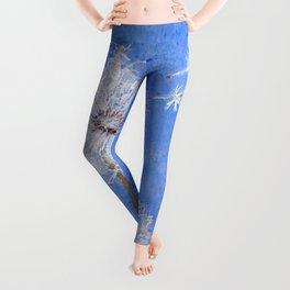 flying dandelion watercolor painting Leggings