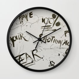 Fear is Fake Wall Clock