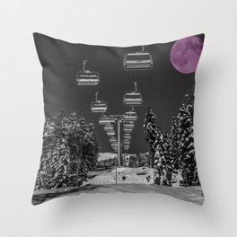 Chairlift to the Moon Throw Pillow
