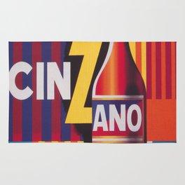 Cinzano Vintage Beverage Poster Rug