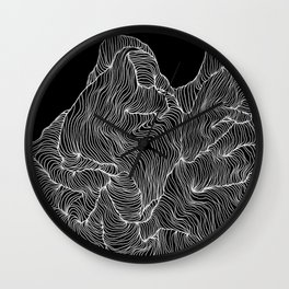 Inverted Crevice Wall Clock