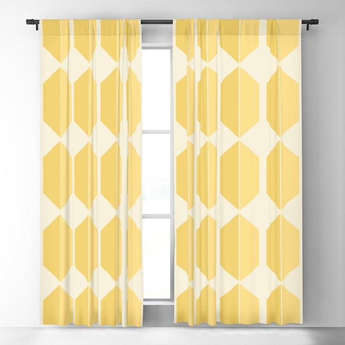 Zola Hexagon Pattern - Golden Spell Blackout Curtain
