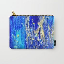 Gold & blue abstract d171013 Carry-All Pouch