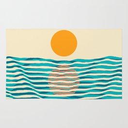 Ocean current Rug