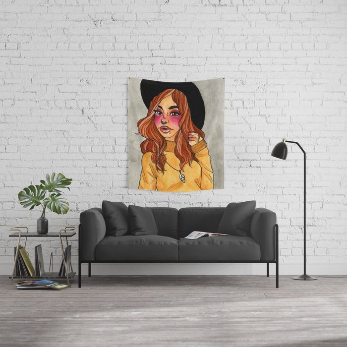 Fall Witch Wall Tapestry
