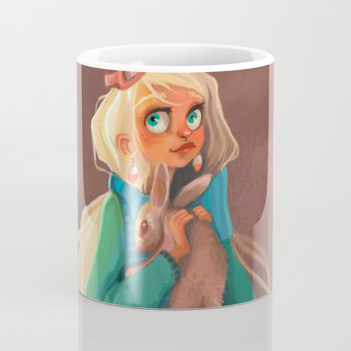 Rabbit girl illustration fantastic Coffee Mug