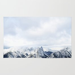 Looking out over the Rockies, in Banff Rug