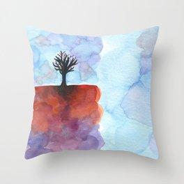 In Limbo - Cinnabar Throw Pillow