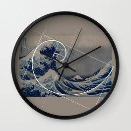 Hokusai Meets Fibonacci Wall Clock