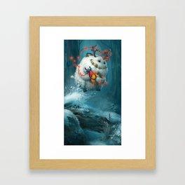 Christmas Yeti Framed Art Print