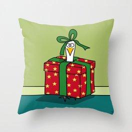 Eglantine la poule (the hen) is a gift Throw Pillow