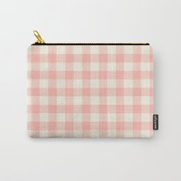 PASTEL GINGHAM 02, blush pink squares Carry-All Pouch