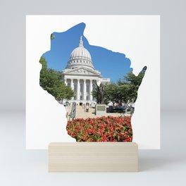 Beautiful Capitol Building in Wisconsin Mini Art Print