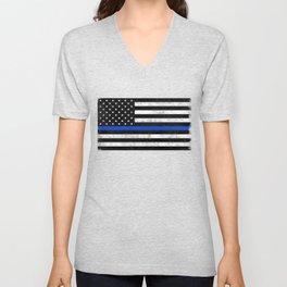 Thin Blue Line Flag 2 Unisex V-Neck