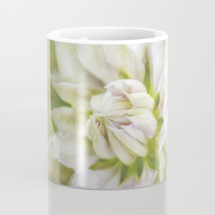 Pale Pink Clematis Coffee Mug