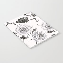 rose pattern Notebook