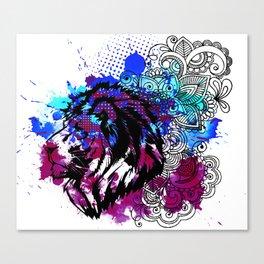 Purple Lion Spirit Canvas Print