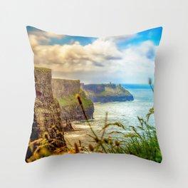 Cliffs of Moher (2) Throw Pillow