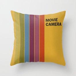 Retro Movie Camera Color Palette Throw Pillow