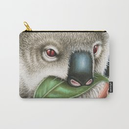 Koala Munching a Leaf Carry-All Pouch