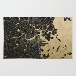 Boston Gold and Black Invert Rug