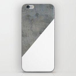 Concrete Vs White iPhone Skin
