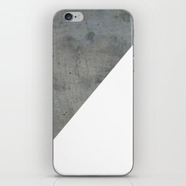 Concrete Vs White iPhone Skin