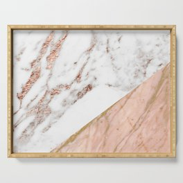 Marble rose gold blended Serving Tray