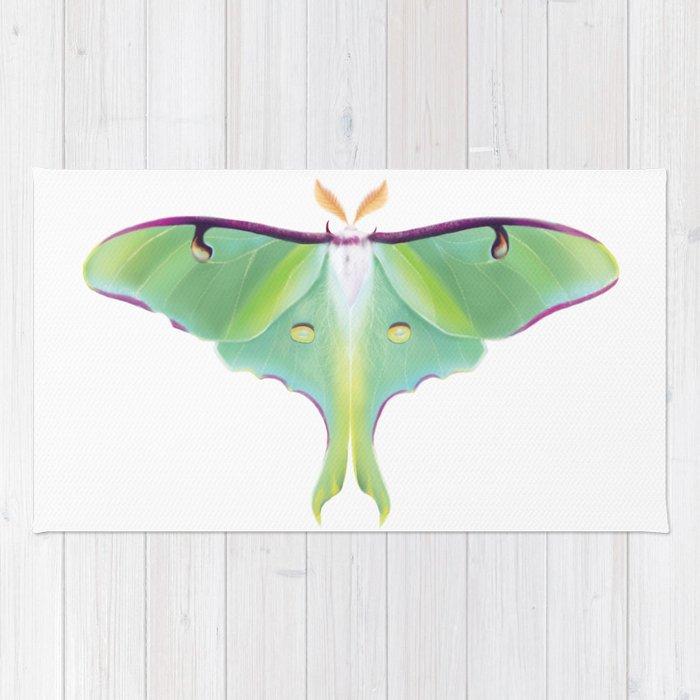 Luna Moth - Digital Illustration Rug
