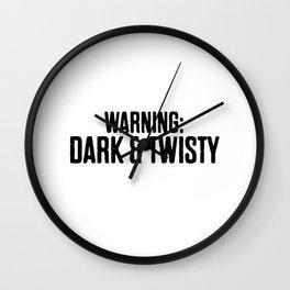 Warning Dark & Twisty Wall Clock