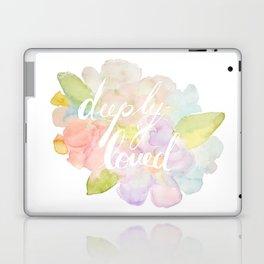 deeply loved watercolor Laptop & iPad Skin