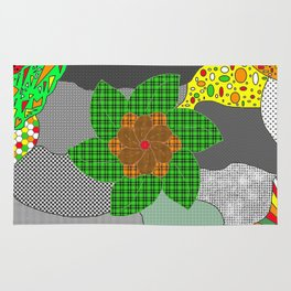 pattern with flower Rug