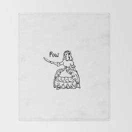 Petticoat. Knife. Patriarchy. Throw Blanket