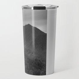 Black and White Mountains Travel Mug